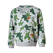 Buy John Lewis Boys' Print Sweatshirt, Camouflage Online at johnlewis.com