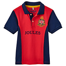 Buy Little Joule Boys' Junior Harry Panel Polo Shirt, Red Online at johnlewis.com