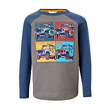 Buy John Lewis Boy's Off Road Raglan T-Shirt, Blue/Grey Online at johnlewis.com