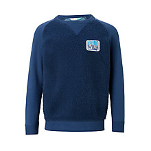 Buy John Lewis Boys' Fleece Jersey Sweatshirt, Blue Online at johnlewis.com