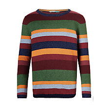 Buy John Lewis Boys' Striped Knitted Jumper, Rustic Multi Online at johnlewis.com