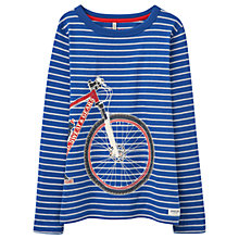 Buy Little Joule Boys' Raymond Glow Bike Stripe T-Shirt, Blue Online at johnlewis.com