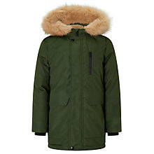 Buy John Lewis Boys' Fallout Parka Jacket, Khaki Online at johnlewis.com