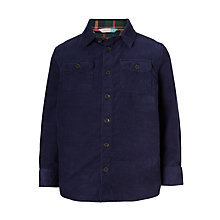 Buy John Lewis Boys' Needlecord Shirt, Blue Online at johnlewis.com