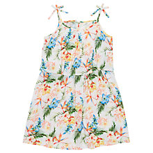 Buy Jigsaw Girls' Tropical Print Dress, White Online at johnlewis.com