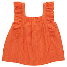 Buy Jigsaw Girls' Jacquard Frill Top Online at johnlewis.com