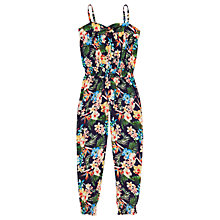 Buy Jigsaw Girls' Tropical Print Jumpsuit, Navy Online at johnlewis.com