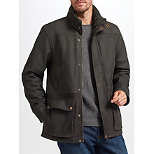 Buy John Lewis Premium Leather Jacket, Brown Online at johnlewis.com
