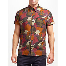 Buy JOHN LEWIS & Co. Camo Flower Print Short Sleeve Shirt, Multi Online at johnlewis.com