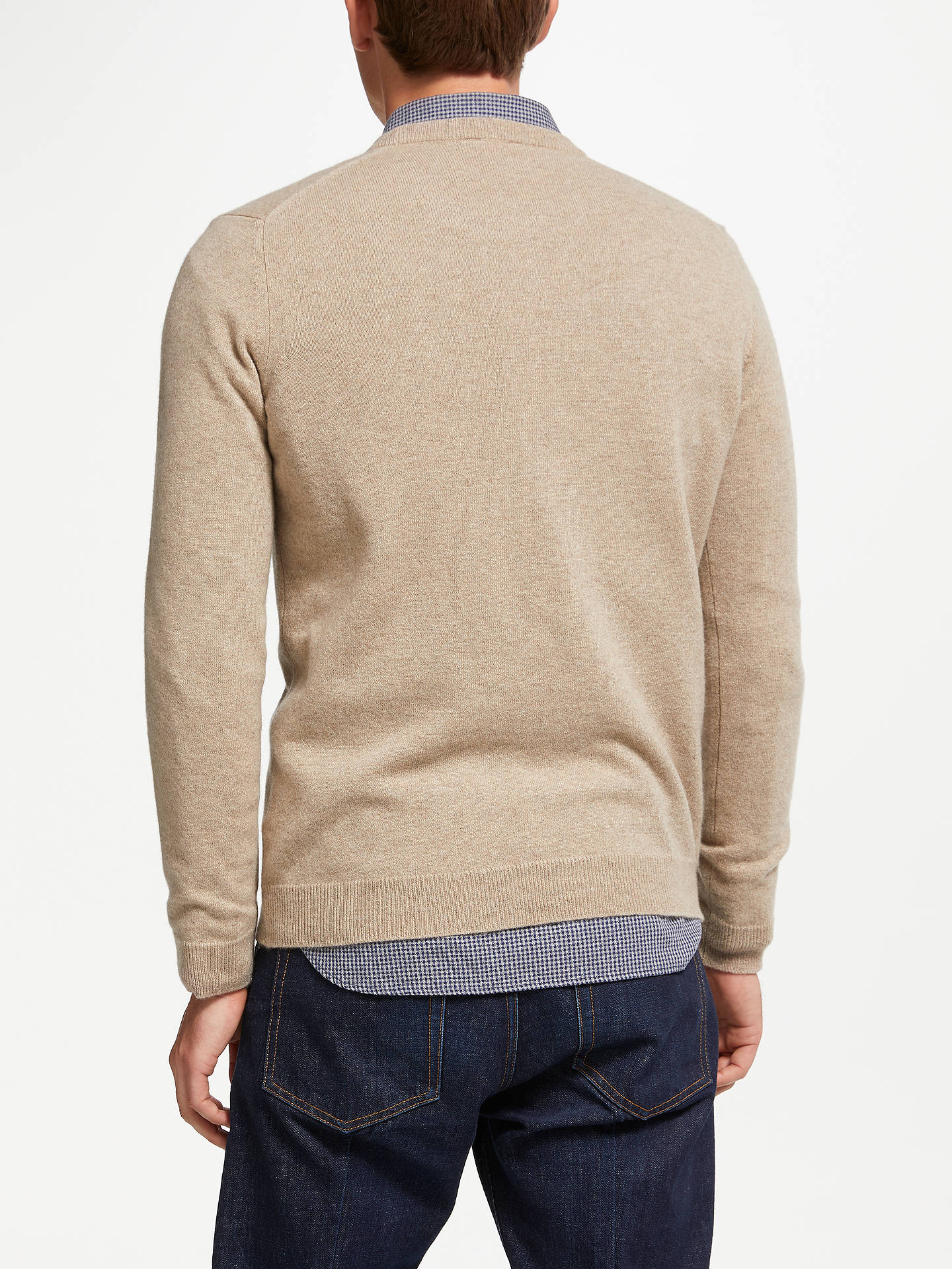 Buy John Lewis & Partners Italian Cashmere Crew Neck Jumper, Natural, XXL Online at johnlewis.com