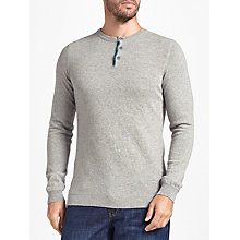 Buy John Lewis Italian Cashmere Henley Jumper, Grey Online at johnlewis.com