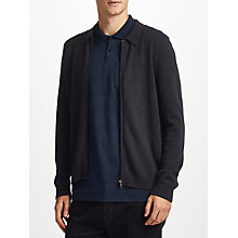 Buy Kin by John Lewis Zip Thru Cardigan, Navy Online at johnlewis.com