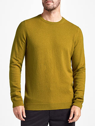 Buy John Lewis Italian Cashmere Crew Neck Jumper, Yellow, S Online at johnlewis.com