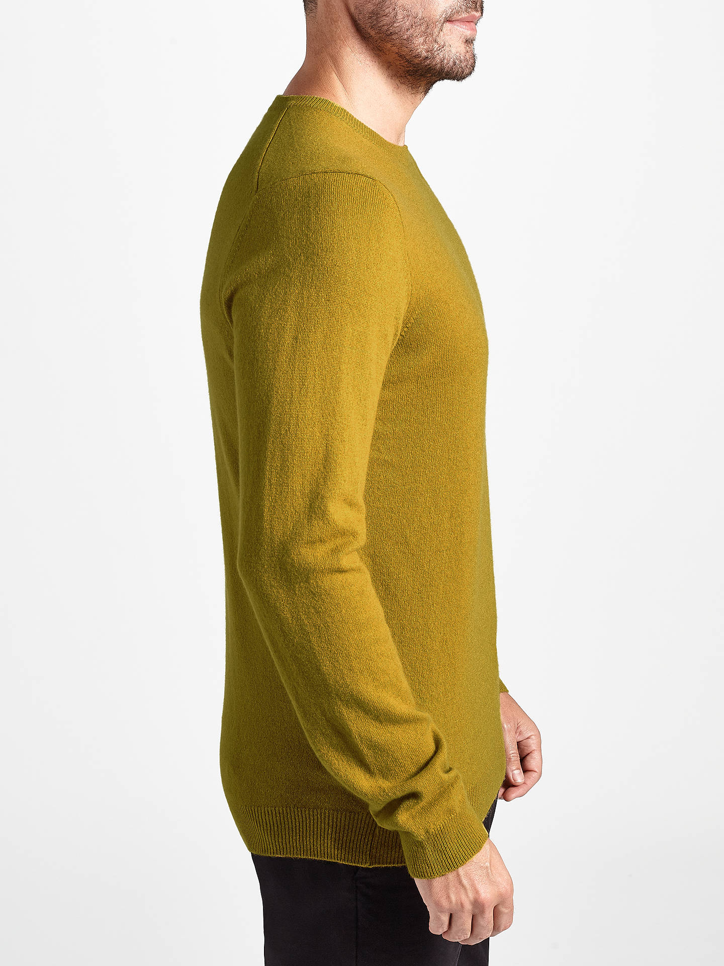 BuyJohn Lewis Italian Cashmere Crew Neck Jumper, Yellow, S Online at johnlewis.com