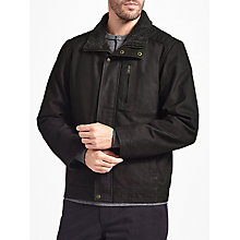 Buy John Lewis Leather Shortie Jacket, Dark Brown Online at johnlewis.com