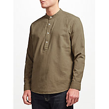 Buy JOHN LEWIS & Co. Half Placket Linen Shirt, Green Online at johnlewis.com