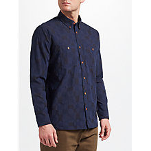 Buy JOHN LEWIS & Co. Texture Patchwork Shirt, Indigo Online at johnlewis.com