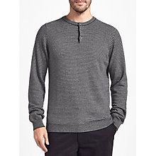 Buy John Lewis Italian Cashmere Henley Jumper, Navy Online at johnlewis.com