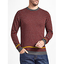 Buy John Lewis Italian Cashmere Stripe Crew Neck Jumper Online at johnlewis.com