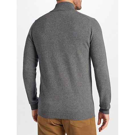 Buy John Lewis Italian Cashmere Zip Neck Jumper Online at johnlewis.com
