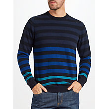 Buy John Lewis Italian Cashmere Multi Stripe Jumper, Blue Online at johnlewis.com