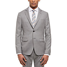 Buy Jaeger Basketweave Wool Slim Suit Jacket, Grey Online at johnlewis.com