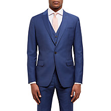 Buy Jaeger Textured Weave Slim Fit Suit Jacket, Blue Online at johnlewis.com