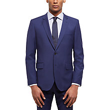 Buy Jaeger Tropical Wool Regular Fit Suit Jacket, Blue Online at johnlewis.com