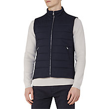 Buy Reiss Cash Padded Cotton Gilet, Navy Online at johnlewis.com