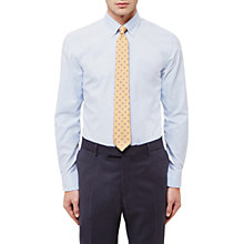 Buy Jaeger Vertical Stripe Slim Fit Cotton Linen Shirt, Light Blue Online at johnlewis.com
