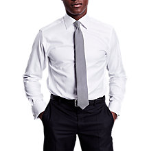 Buy Thomas Pink Timothy Texture Double Cuff Slim Fit Shirt, White Online at johnlewis.com