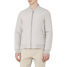 Buy Reiss Mountain Zip Bomber Jacket, Soft Grey Online at johnlewis.com