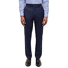 Buy Jaeger Wool Textured Slim Fit Suit Trousers, Navy Online at johnlewis.com