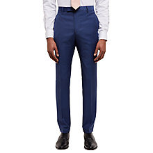 Buy Jaeger Textured Weave Slim Fit Suit Trousers, Blue Online at johnlewis.com