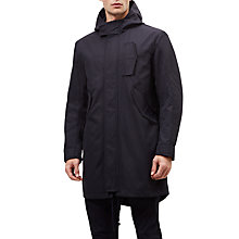 Buy Jaeger Showerproof Parka, Navy Online at johnlewis.com