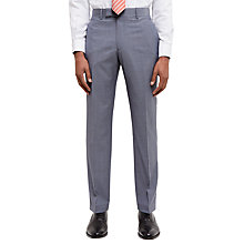 Buy Jaeger Super 110s Wool Sharkskin Regular Fit Suit Trousers, Grey Melange Online at johnlewis.com