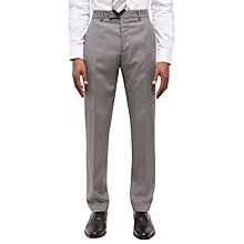 Buy Jaeger Basketweave Wool Slim Suit Trousers, Grey Online at johnlewis.com