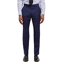 Buy Jaeger Tropical Wool Regular Fit Suit Trousers, Blue Online at johnlewis.com