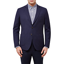 Buy Jaeger Textured Wool Blazer, Midnight Online at johnlewis.com
