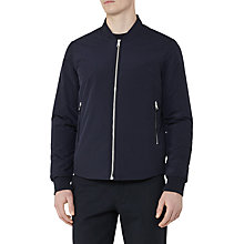 Buy Reiss Cherry Zip Bomber Jacket, Navy Online at johnlewis.com