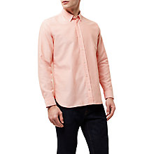 Buy Jaeger Cotton Oxford Shirt, Orange Online at johnlewis.com