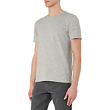 Buy Reiss Barney Textured Cotton T-Shirt, Grey Online at johnlewis.com