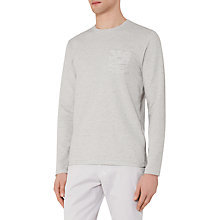 Buy Reiss Tom Textured Stripe Long Sleeve T-Shirt, Grey Online at johnlewis.com
