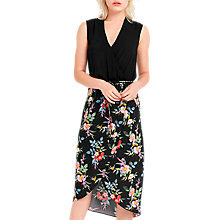 Buy Oasis Floral 2 In 1 Dress, Multi/Black Online at johnlewis.com