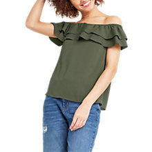 Buy Oasis Soft Frill Bardot Top Online at johnlewis.com