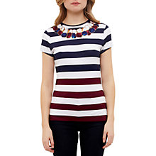 Buy Ted Baker Danilyn Rowing Stripe Fitted T-Shirt, Navy Online at johnlewis.com