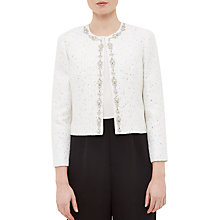 Buy Ted Baker Chilia Embellished Suit Jacket, Ecru Online at johnlewis.com