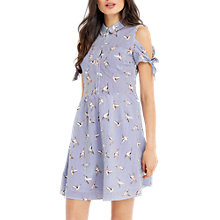Buy Oasis Stripe Bird Shirt Dress, Multi/Blue Online at johnlewis.com
