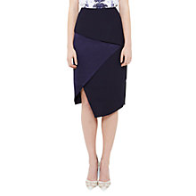 Buy Ted Baker Asymmetric Fold Pencil Skirt, Navy Online at johnlewis.com