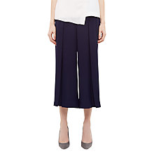 Buy Ted Baker Pleat Crepe Culottes, Navy Online at johnlewis.com